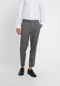 Filippa K - TERRY CROPPED PANTS - Trousers - grey melange - 0