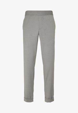 TERRY CROPPED PANTS - Stoffhose - mid grey melange