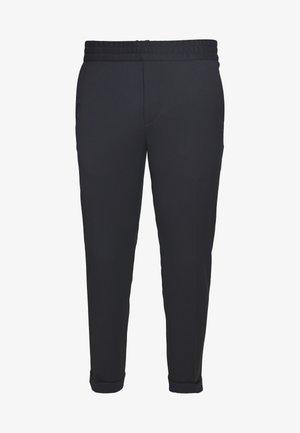 TERRY CROPPED PANTS - Pantalones - navy