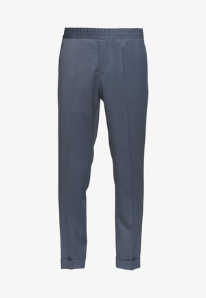TERRY CROPPED PANTS - Stoffhose - blue grey