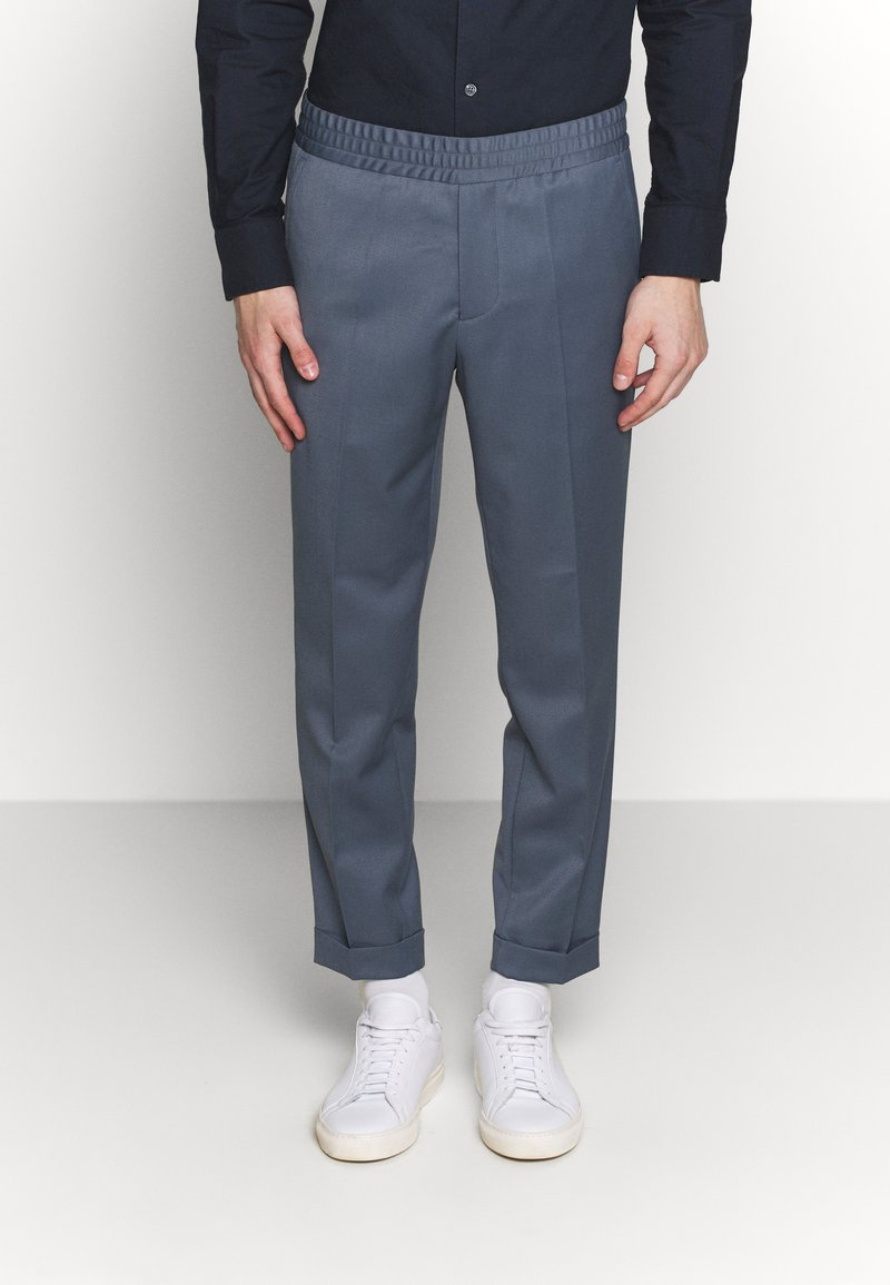 Filippa K - TERRY CROPPED PANTS - Trousers - blue grey