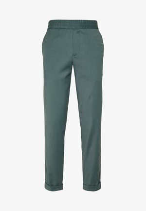 TERRY CROPPED PANTS - Tygbyxor - dark mint powder