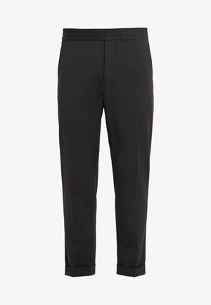 TERRY CROPPED PANTS - Trousers - dark mole