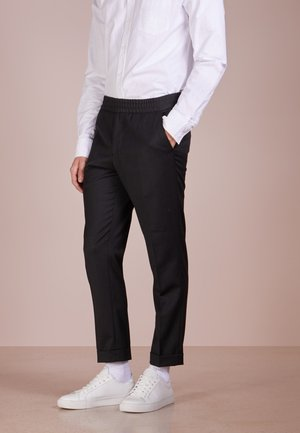TERRY CROPPED PANTS - Spodnie materiałowe - anthracite