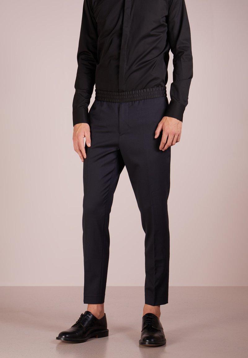 Filippa K - TERRY TUXEDO TROUSERS - Trousers - dark navy