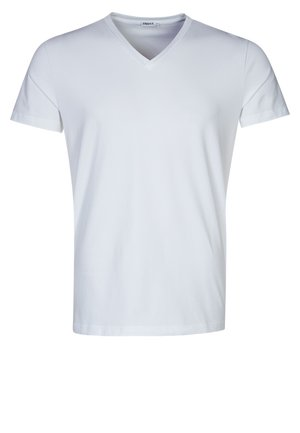 SOFT LYCRA NECK - Jednoduché triko - white