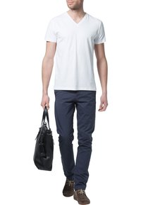 Filippa K - SOFT LYCRA NECK - T-shirts basic - white - 1