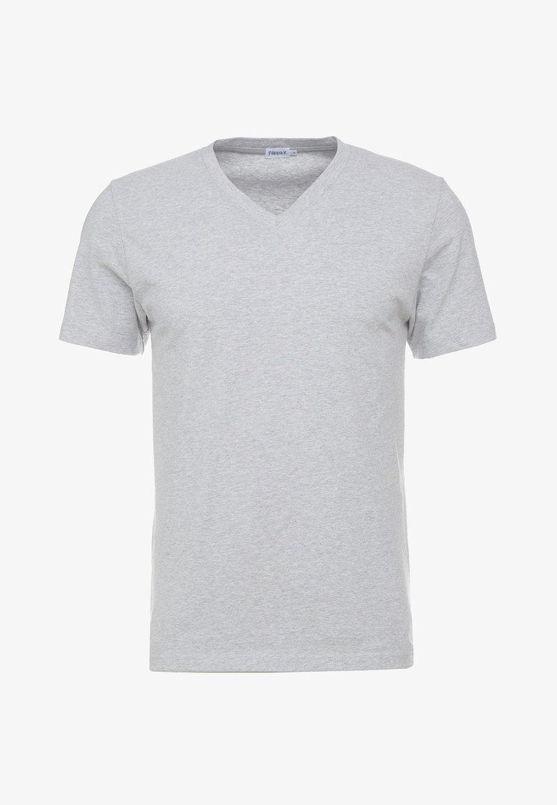 Filippa K SOFT LYCRA NECK - T-shirts - light grey melange