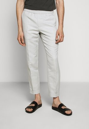 TERRY CROPPED SLACKS - Trousers - grey