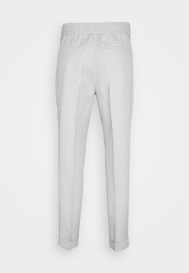 TERRY CROPPED SLACKS - Tygbyxor - grey