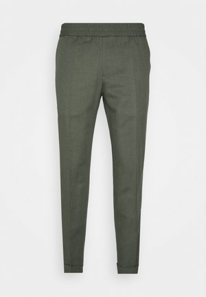 TERRY CROPPED SLACKS - Trousers - green grey