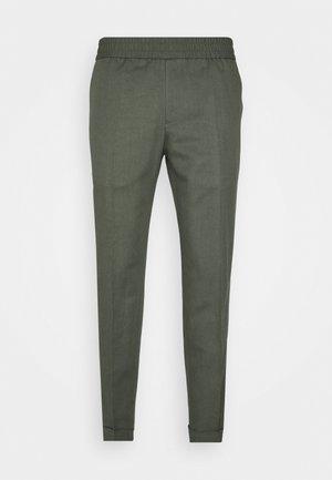 TERRY CROPPED SLACKS - Tygbyxor - green grey