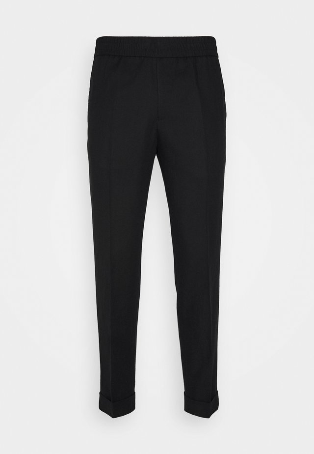 TERRY CROPPED SLACKS - Tygbyxor - black