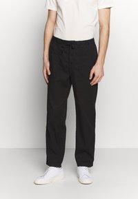 Filippa K - THEODORE TROUSER - Spodnie materiałowe - black - 0