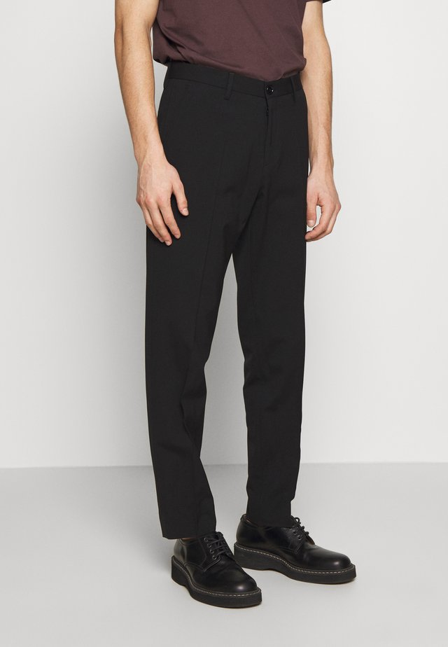 WILLIAM TROUSER - Tygbyxor - black