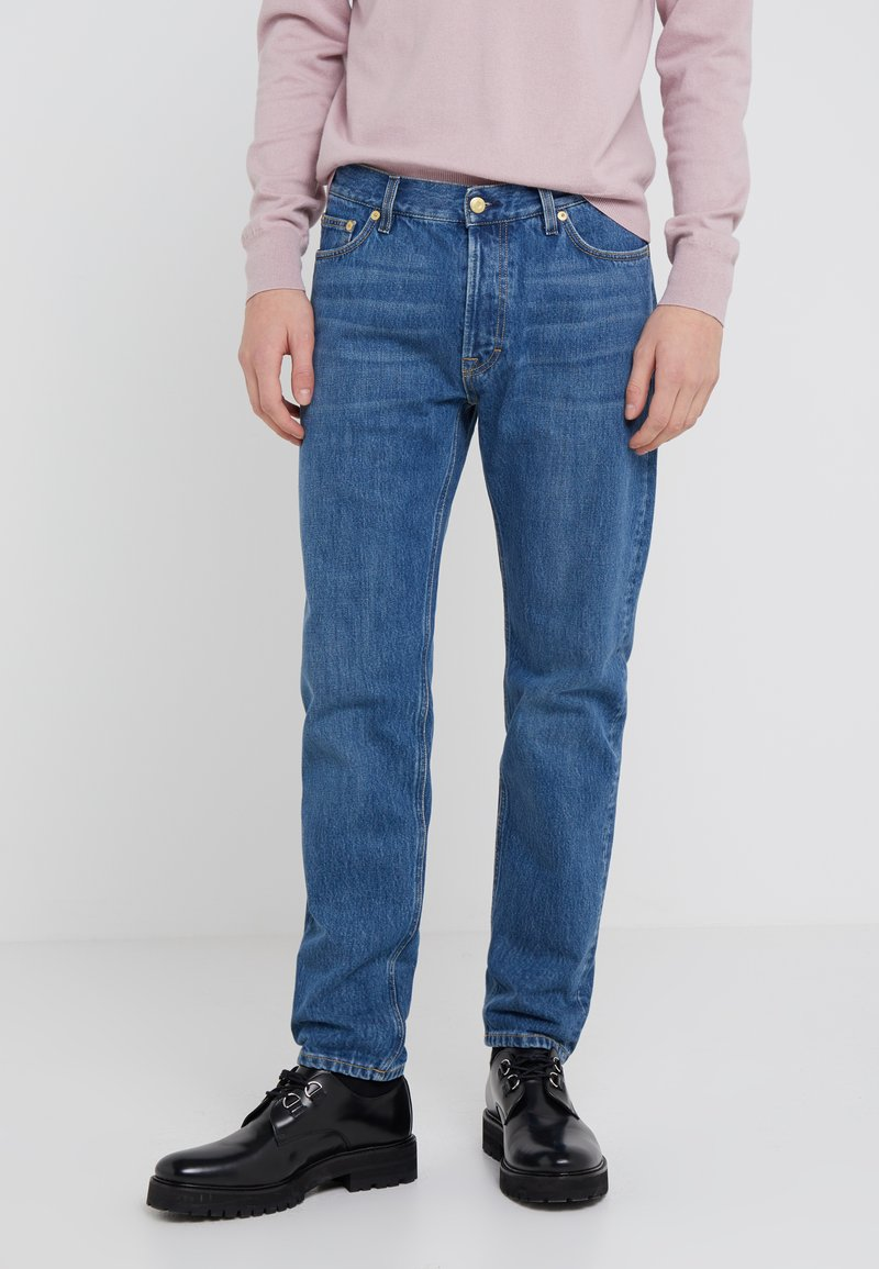 Filippa K - BYRON WASHED JEANS - Straight leg jeans - mid blue