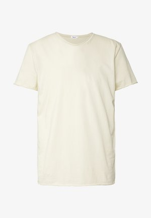 ROLL NECK TEE - T-shirts - almond white