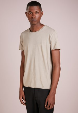 ROLL NECK TEE - T-shirt - bas - oyster