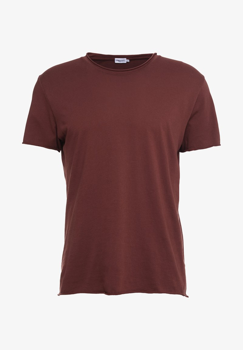Filippa K ROLL NECK TEE - T-shirts - red