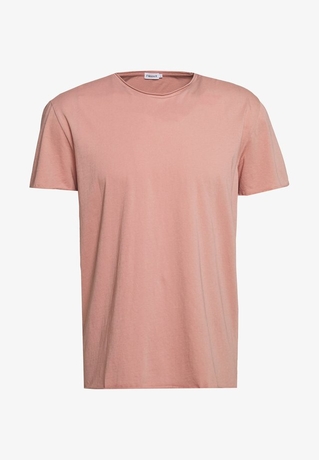 ROLL NECK TEE - T-shirt - bas - antique rose