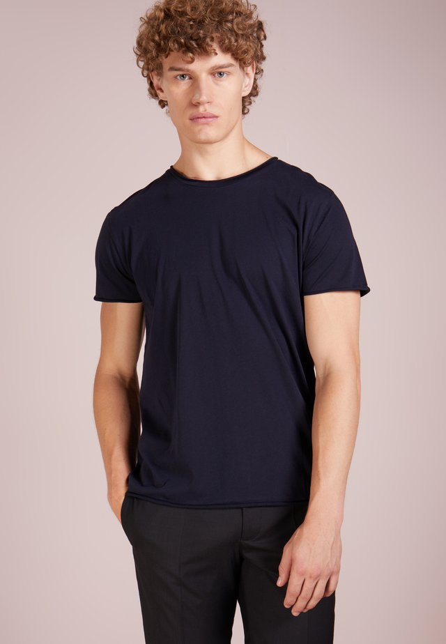 ROLL NECK TEE - T-shirt - bas - navy