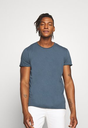 ROLL NECK TEE - T-shirts - blue grey