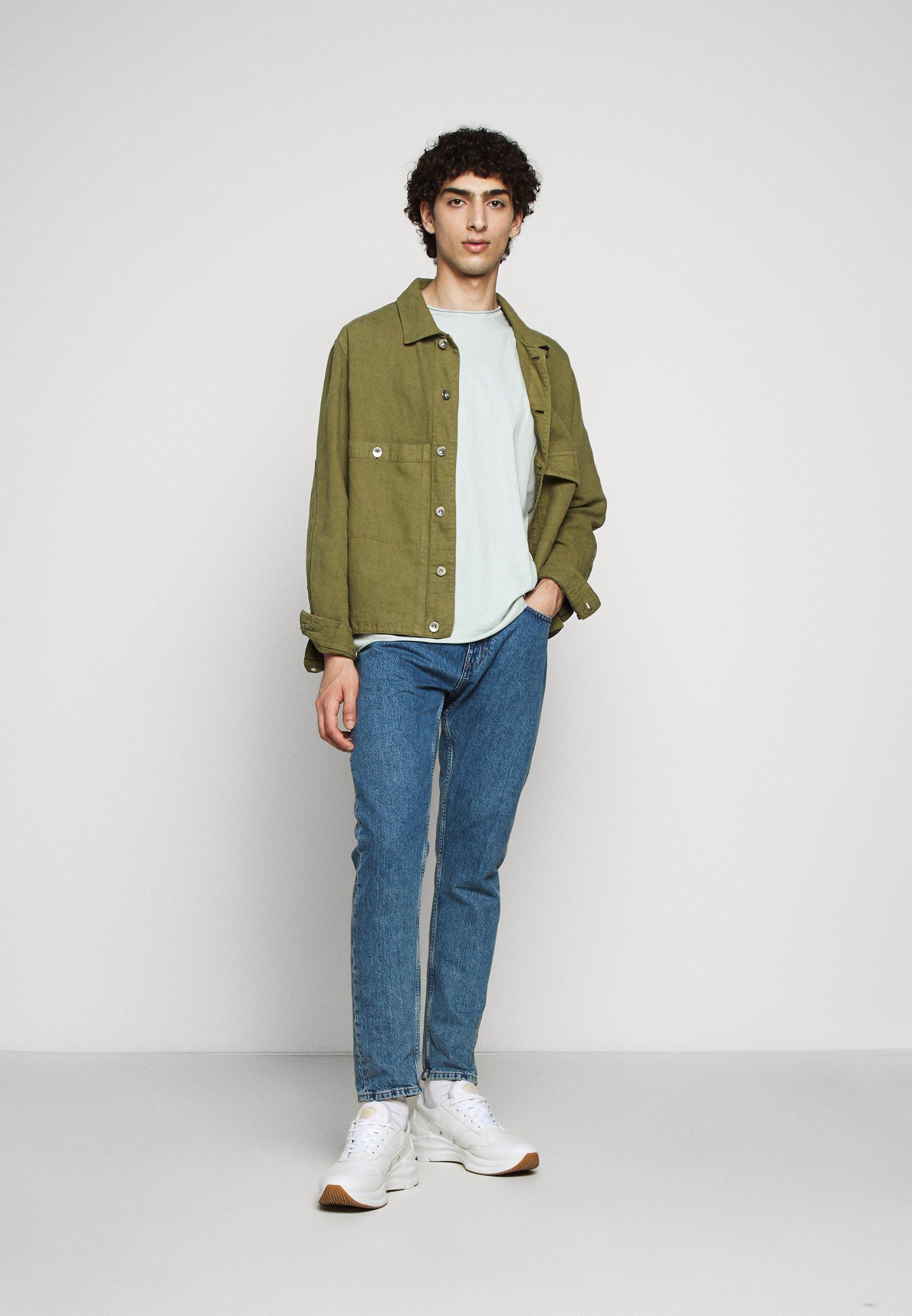 ROLLNECK T shirt basic mottled turquoise