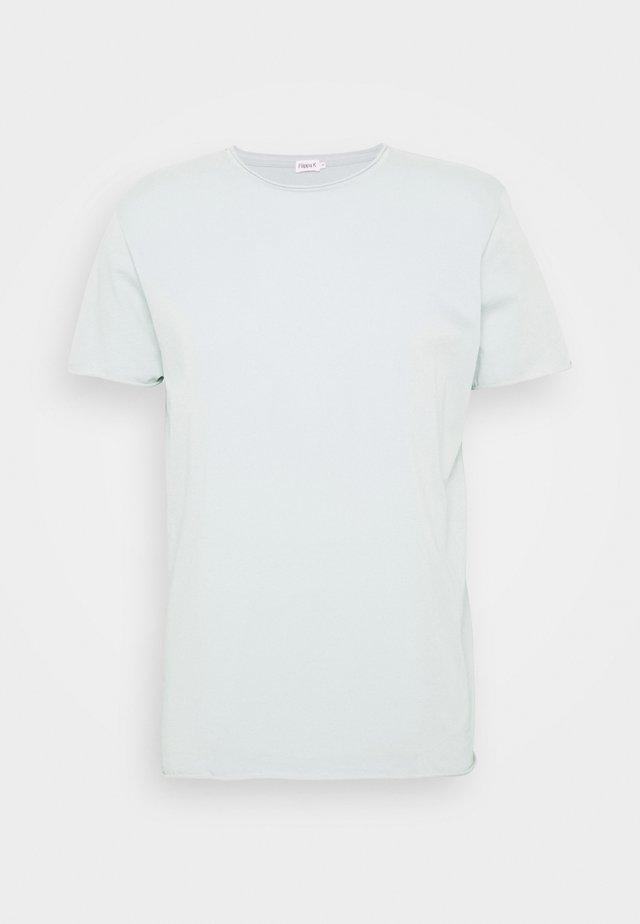 ROLL NECK TEE - T-shirts basic - mottled turquoise