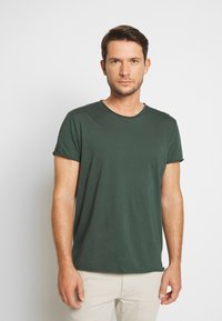 Filippa K - ROLL NECK TEE - T-shirt - bas - crocodile - 0