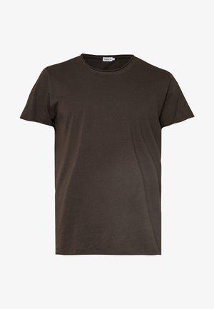 ROLL NECK TEE - T-shirt - bas - dark oak