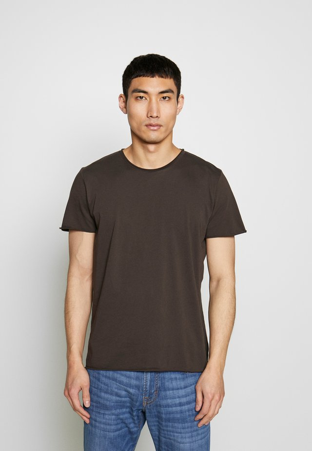 ROLLNECK - Basic T-shirt - dark oak