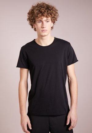 ROLL NECK TEE - T-shirt basic - black