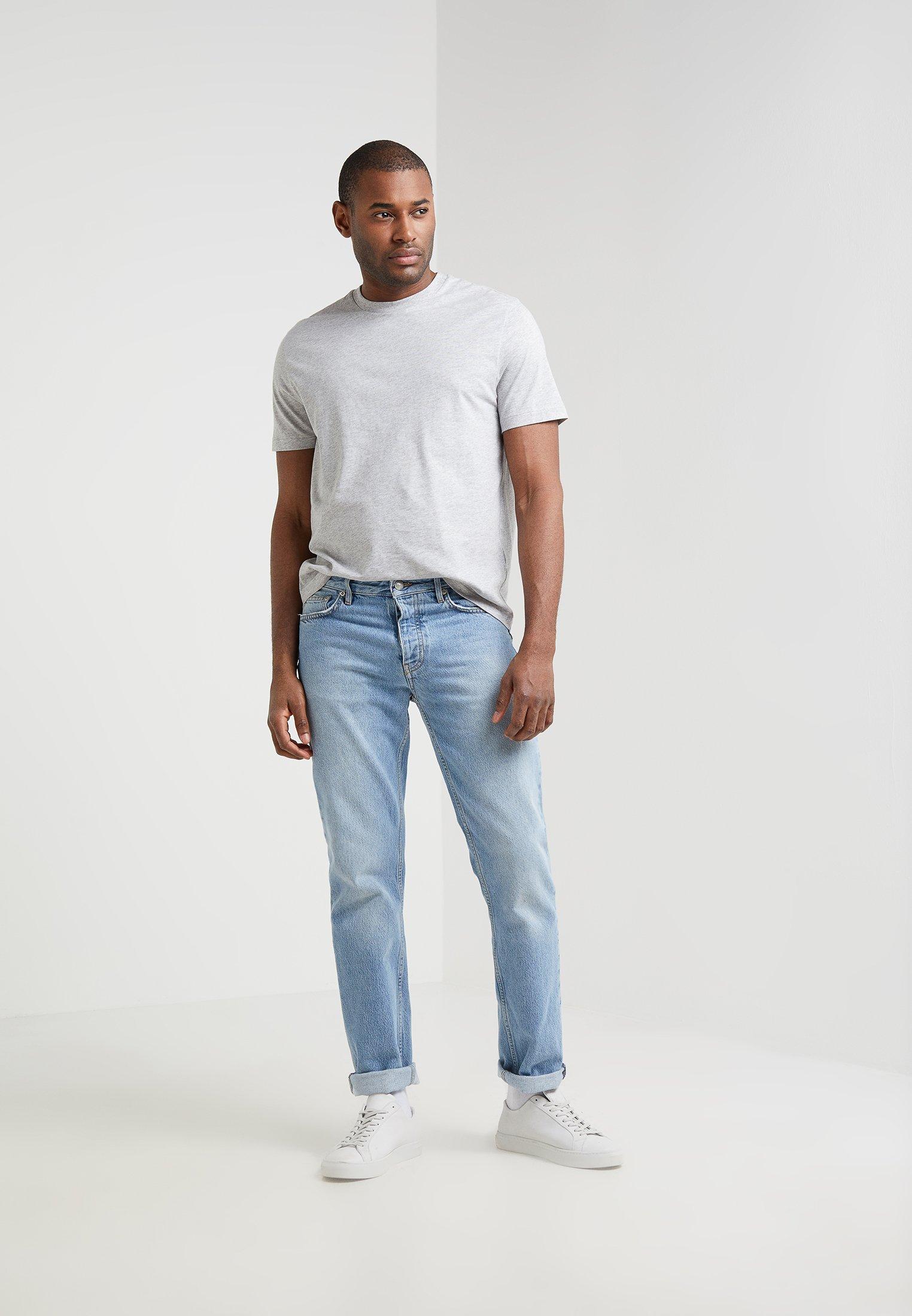 Filippa K Single Classic Tee - Basic T-shirt Light Grey UK