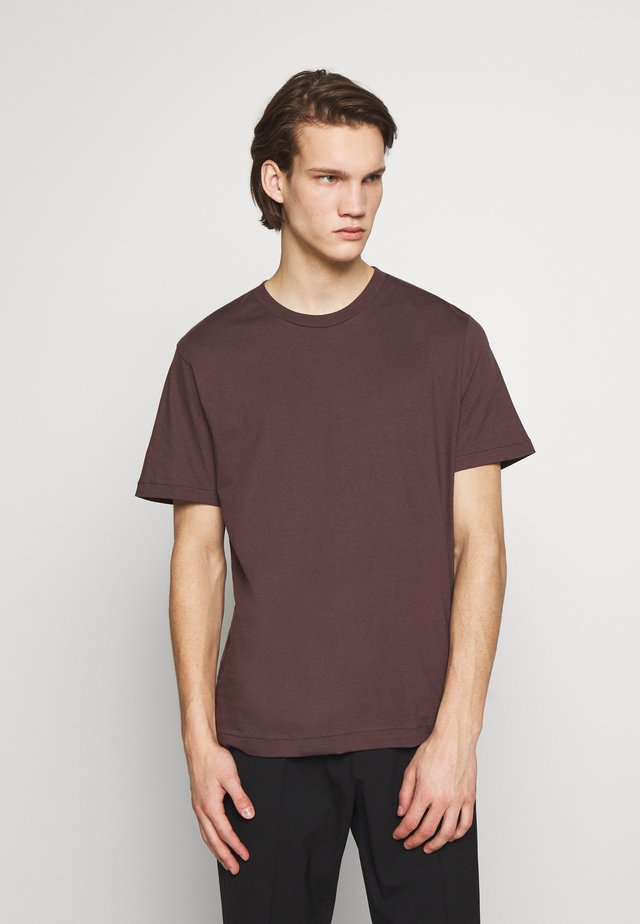 SINGLE CLASSIC TEE - T-shirt - bas - dark plum