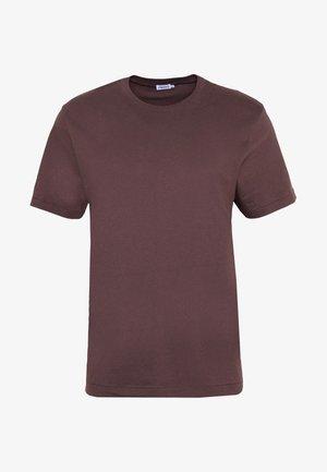 SINGLE CLASSIC TEE - Basic T-shirt - dark plum