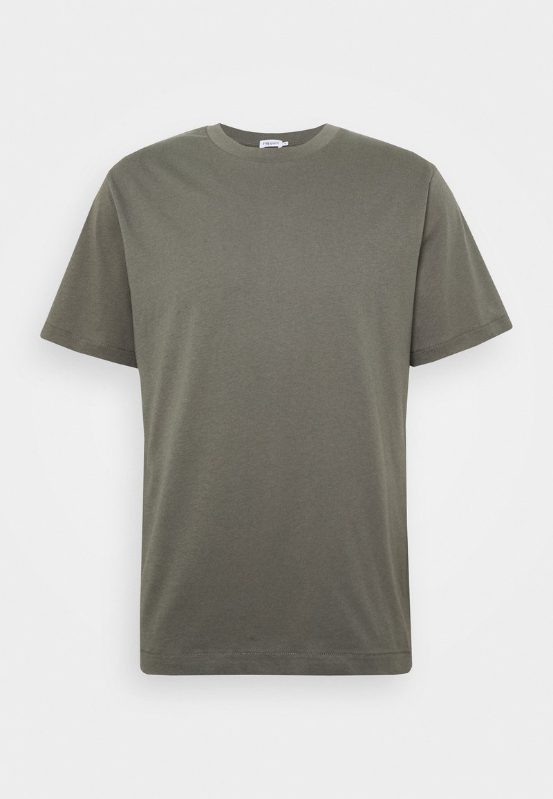 Filippa K - SINGLE CLASSIC TEE - T-shirt - bas - green/grey