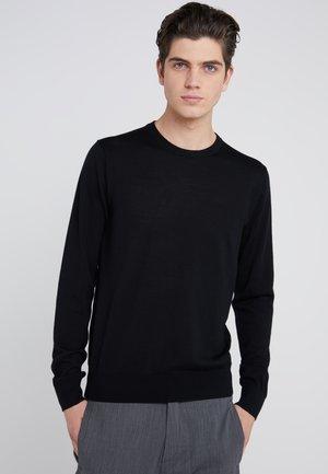 Strikkegenser - black