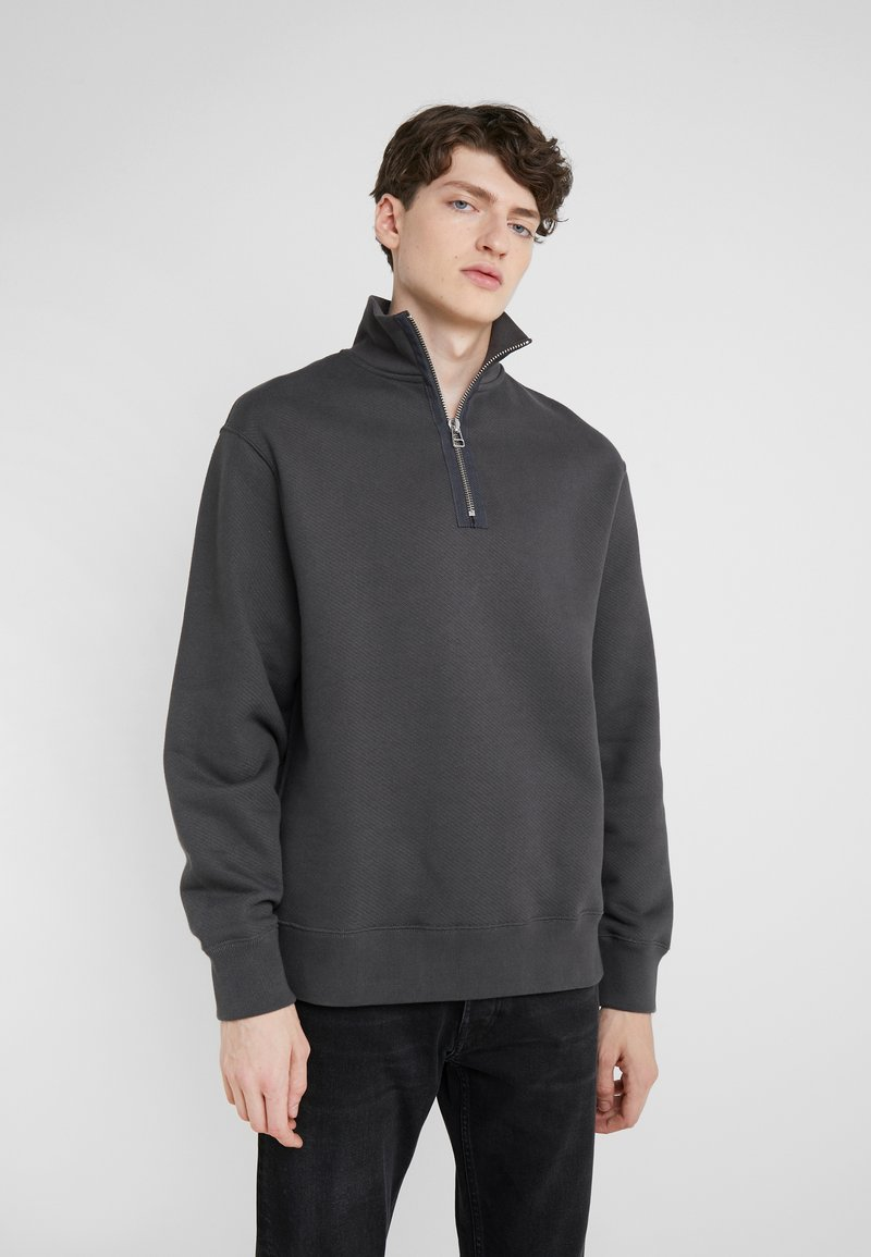 Filippa K - MILES ZIP  - Sweatshirt - ink grey