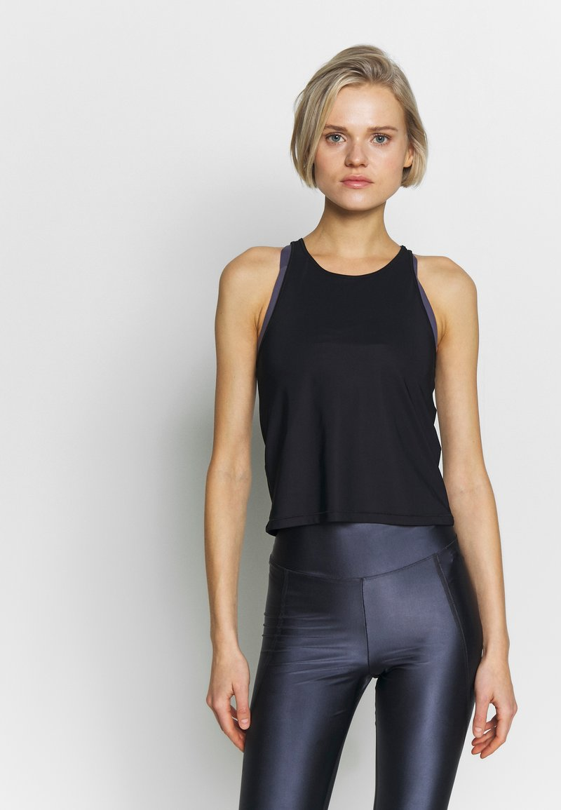 Filippa K - CROPPED SOFT  - Sportshirt - black