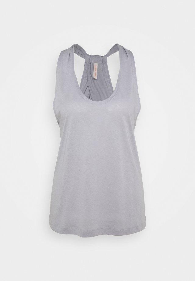 TWIST LAYER TANK - Top - silver grey