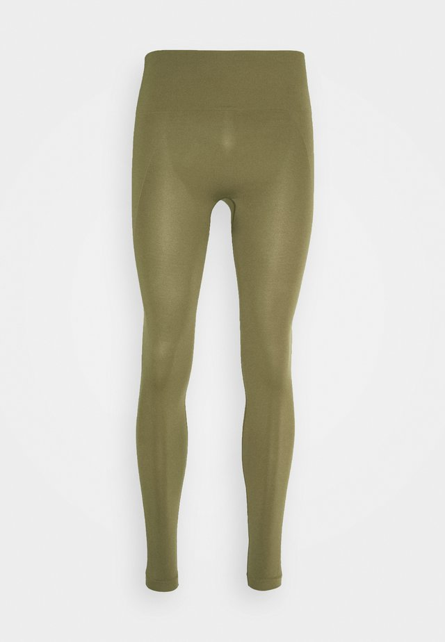 HIGH SEAMLESS LEGGING - Tights - mud