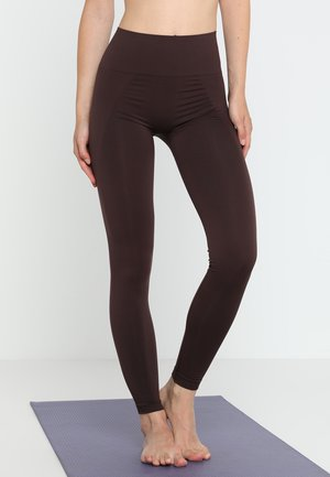 HIGH SEAMLESS LEGGINGS - Medias - maroon
