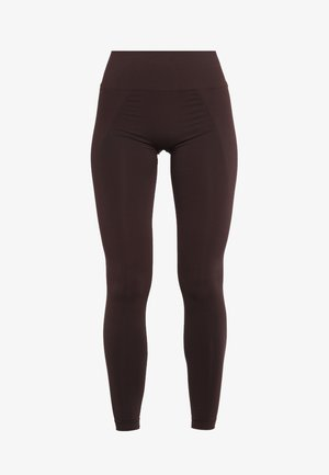 HIGH SEAMLESS LEGGINGS - Tights - maroon