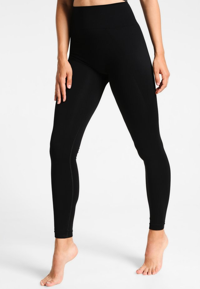 HIGH SEAMLESS LEGGINGS - Punčochy - black