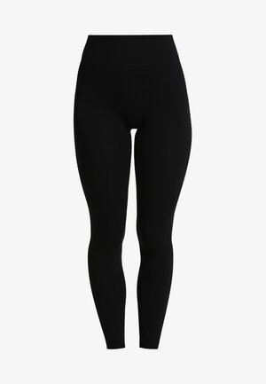 HIGH SEAMLESS LEGGINGS - Tights - black