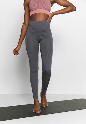 HIGH SEAMLESS LEGGINGS - Collants - metal