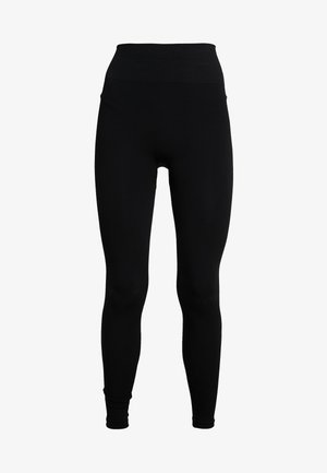 SEAMLESS COMPRESSION LEGGINGS - Legginsy - black