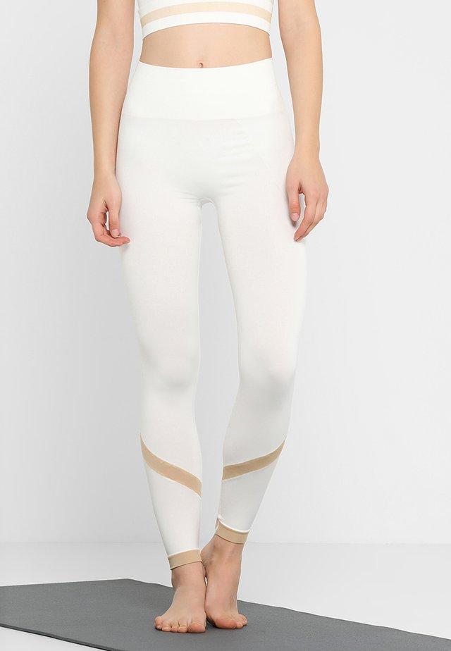 SEAMLESS STRIPE LEGGINGS - Leggings - off white