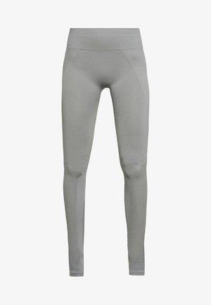 SEAMLESS OPEN HEEL LEGGINS - Leggings - nickel grey