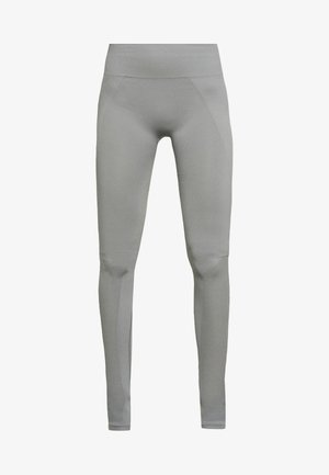 SEAMLESS OPEN HEEL LEGGINS - Tights - nickel grey